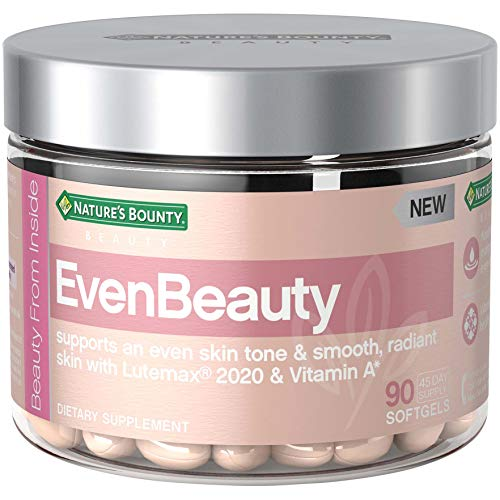 Nature's Bounty Evenbeauty Beauty Multivitamins, with Vitamin A & lutemax 2020, Skin Care Supports Even Skin Tone & Smooth, Radiant Skin*, 90 Softgels