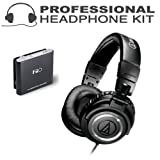 Audio-Technica ATH-M50 Professional Studio Monitor Headphones + BONUS FiiO E5 Headphone Amplifier