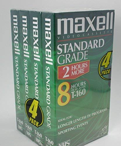 Maxell Standard Grade T 160 Blank Vhs Recording Tapes by MaxellL