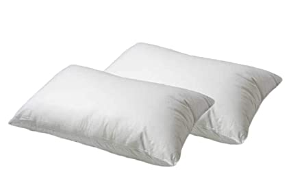 100 All Organic Cotton Fiber Filled King Size Pillow 2 Pack
