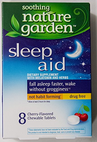 soothing nature garden sleep aid remedy 4 boxes total 32 cherry tablets best snoring aids