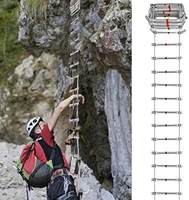 Quiet.T Escalera De Cuerda Escape De Fuego Escalera De Emergencia Escalera Retráctil Ingeniería Inicio Subida De Escaleras: Amazon.es: Hogar