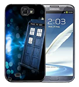 Samsung Galaxy S6 Black Rubber Silicone Case -Tardis Dr Who Style 4 Call Box blue Police
