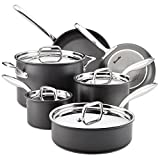 Breville 10 Piece Thermal Pro Hard-Anodized Nonstick Cookware Set, Large, Gray Review and Best Price