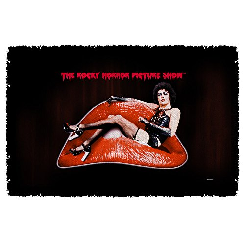 Frank Lips -- Rocky Horror Picture Show -- Woven Throw Blanket Tapestry (Horror Show Picture Merchandise Rocky)
