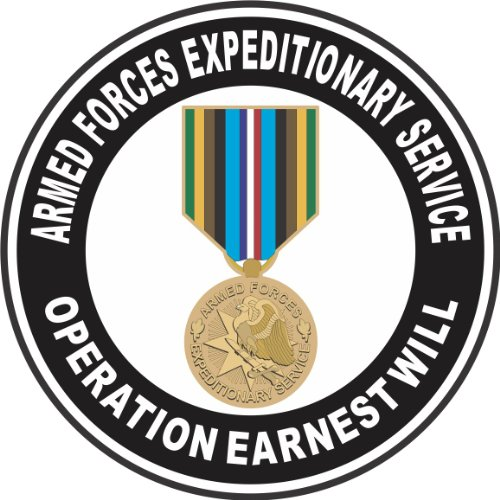 MilitaryBest Armed Forces Expeditionary Medal Operation Earnest Will 5.5 Inch Decal