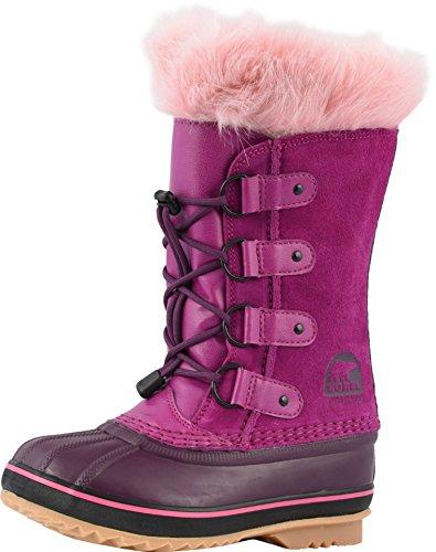 (SOREL Snow Commander Childrens Winter Boot (6 M US Big Kid, Raspberry/Purple Dahlia))