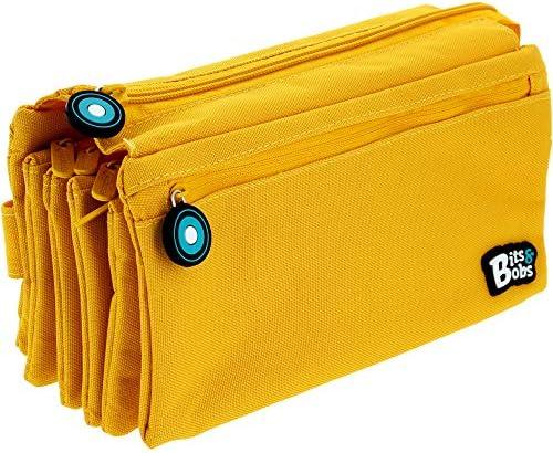 Grafoplás 37543360. Estuche Portatodo Cuádruple Amarillo. bits & Bobs. 23x12cm: Amazon.es: Equipaje