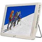 Supersonic SC-2812 12 Portable Lightweight LED TV w/Built in Batt,USB/SD input (White)