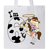 Inktastic - I'm Six-cowgirl riding horse birthday Tote Bag White 2ca36