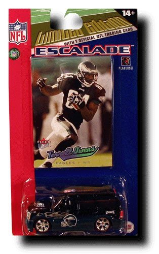 (Philadelphia Eagles NFL Diecast 2005 Cadillac Escalade with Terrell Owens Fleer Ultra Trading Card by 1LAP2GO)