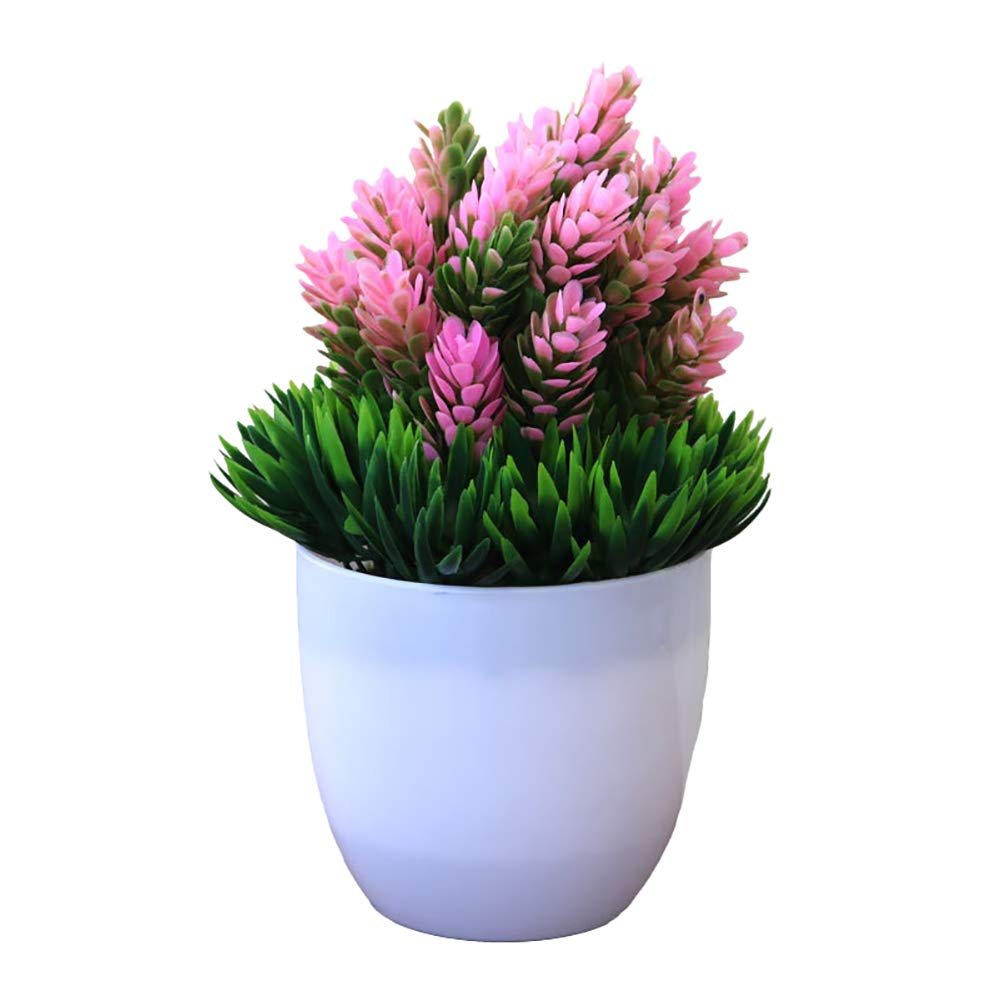 LAA 1pcs Mini Fake Potted Artificial Plants Artificial Plant Potted Artificial Fake Potted Artificial Plants Plastic Fake Tree Plants Bushes Fake Potted Plants for Bathroom,House Decorations