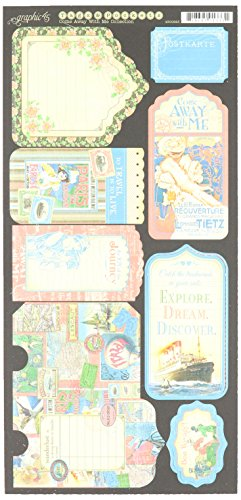 Graphic 45 Come Away with Me Tags and Pockets Paper Crafting Pad