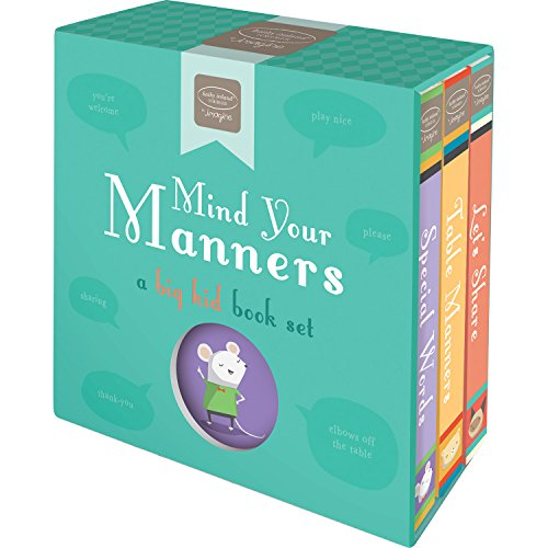 Bendon Mind Your Manners, Kathy Ireland, A Big Kid Learning Activity 3-Book Set Learning Toy (Nice Short Stories With Moral In English)