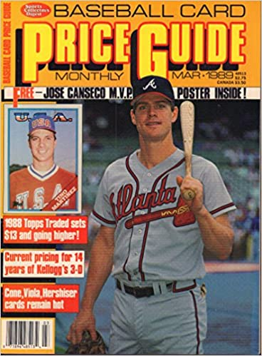 Baseball Card Price Guide March 1989 Jose Canseco Tino