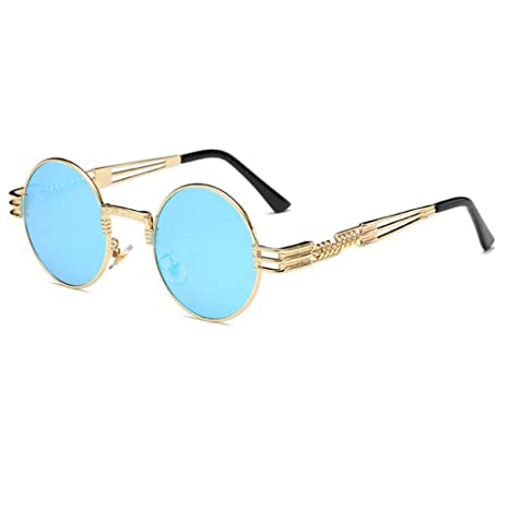 Yangjing-hl Gafas de Sol Steampunk Hombres Gafas de Sol ...