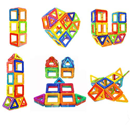 Soyee Magnetic Blocks STEM Educational Toys for 3+ Year Old Boys and Girls Creative Construction Fun Magnetic Tiles Kit Gifts for Toddlers - 30pcs Starter -