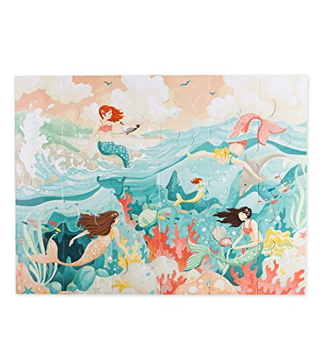 Children's Jumbo Mermaid Jigsaw Floor Puzzle, 24 pieces, For Ages 3 and Up - 24 x 18 Inches