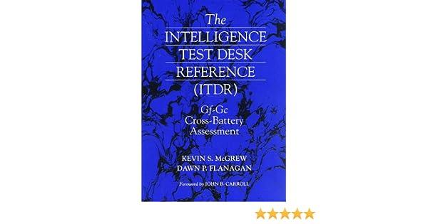 Amazon.com: Intelligence Test Desk Reference (ITDR): The Gf-Gc ...
