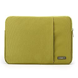 """Waterproof & Shockproof Laptop Tablet Notebook Sleeve Case Bag Pouch Cover for MacBook Pro Retina Air 13 12.9-inch iPad Ultrabook Acer Asus Dell HP Chromebook 12.5"""" 12.6"""" 13"""" 13.3"""" inches (Green)"""