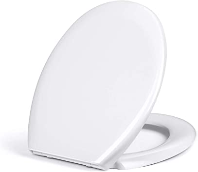 Robust WC-Sitz mit Absenkautomatik und Quick-Release-System Absenkbarer Kunststoff-Klositz Walmann Premium-Toilettendeckel in O-Form antibakteriell und farbecht