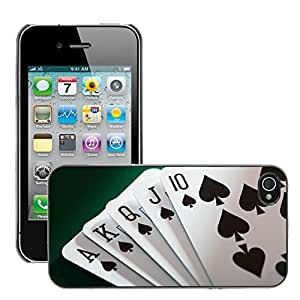 Print Motif Coque de protection Case Cover // V00002545 cartas de póquer // Apple iPhone 4 4S 4G