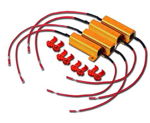 Zone Tech 50W 6Ohm LED Load Resistors - 4-Pieces Premium Quality LED (Led License Plate Kit)