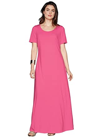 Jessica London Womens Plus Size Tee Shirt Maxi Dress At Amazon