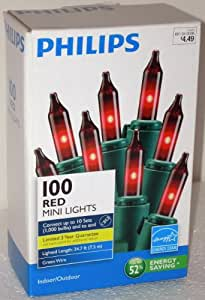 Philips 100 Red Mini Christmas Lights
