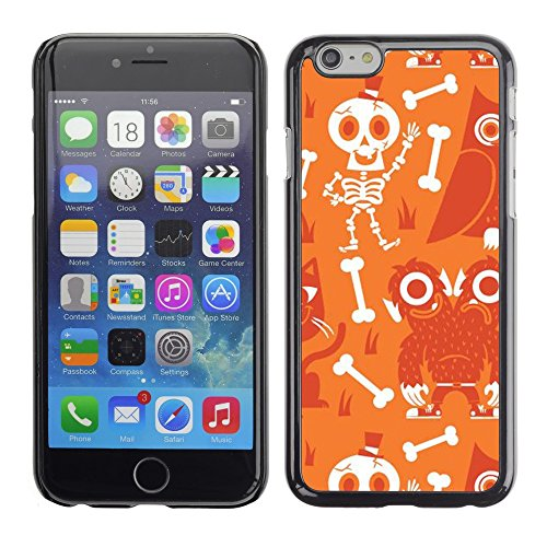 Planetar® ( Scull Skeleton Happy Halloween ) Apple (5.5 inches!!!) iPhone 6+ Plus / 6S+ Plus Hard Printing Protective Cover Protector Sleeve Shell Case (Happy Halloween Memes)