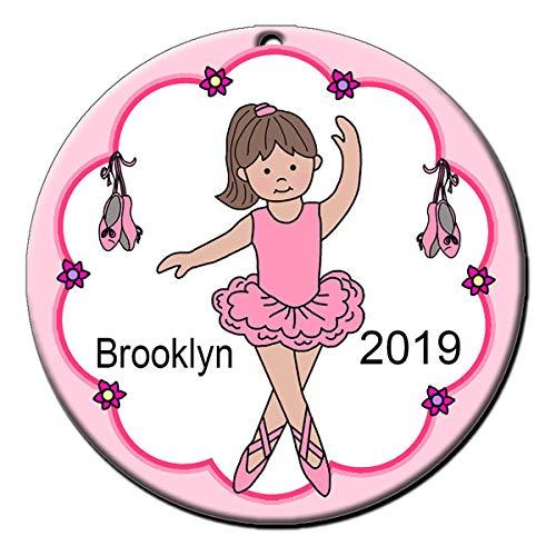 Ballerina Ornament - Brown Haired Girl