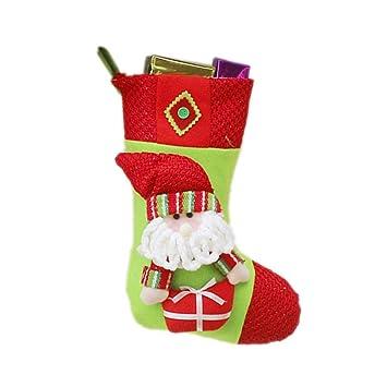 iStary 2018 Decoraciones De Navidad De Santa Claus Muñeco De Nieve Calcetines Colgante De Papá Noel Egalo De Navidad Casa De Vacaciones Decoracion -3 ...