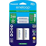Panasonic K-KJS2MCA2BA eneloop AA NEW 2100 Cycle, Ni-MH Pre-Charged Rechargeable Batteries, 2 Pack with 2