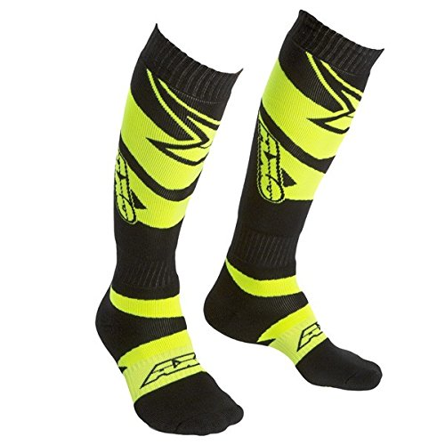 Price comparison product image AXO MX Motion Socks (Black/Fluorescent Yellow, One Size)