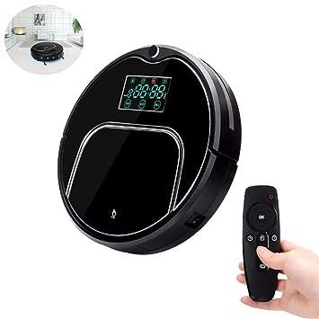 ZZAZXB Robot Aspirador De Limpieza, Limpieza Automática, Limpieza De Cabello De Mascotas Y Pelo De Humano Robot Inteligente Aspirador 3 Modos De Limpieza: ...