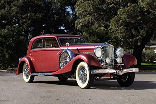 duesenberg-j-365-2385-sunroof-sedan-lwb-1931-car-print-on-10-mil-archival-satin-paper-red-front-side