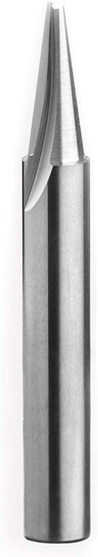 Woodworking Carving Bit DashHound Solid Carbide Router Bit 15 Deg with 1//4 Shank,1//16 Cutting Diameter