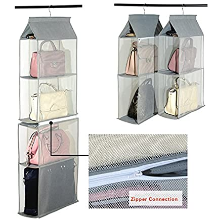 94199a989b staccabile scomparto organizer borsa organizer per armadio trasparente borsa  bag collection sistema salvaspazio armadi with armadio borse.