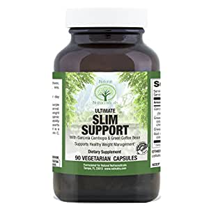 Ultimate Slim Support by Natural Nutra – Weight Loss Supplement with Garcinia Cambogia, Green Coffee Beans, Raspberry Leaf, 90 Capsules