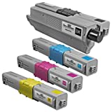 Speedy Inks – 4 Pack New Compatible OKI 44469801/44469703/44469702/44469701 Toner Cartridgee-color (Bk/c/m/y) (Oki C330/C17) for OKI C310/c330/c510/c530/mc361 Mfp/mc561 MFP Series, Office Central