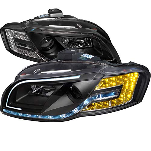 Velocity Concepts For A4 R8-Style Projector Head Lihghts+Led Strip Turn Signal Lamps Black Audi Style Led Strip