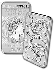 2019 - Present 1oz Silver Bar Australia Perth Mint Dragon Series Coin $1 Brilliant Uncirculated