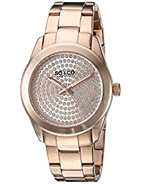 SO & CO New York  Women's 5067.3 Madison Analog Display Quartz Rose Gold Watch