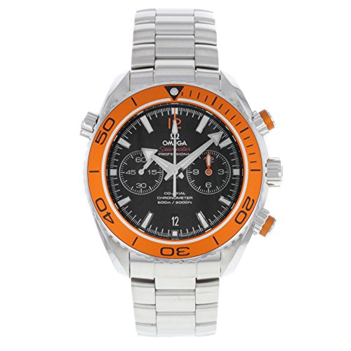 Omega Planet Ocean Chronograph Automatic Orange Bezel Mens Watch
