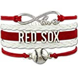 Love Red Sox Team Charm Bracelet by No Excuses Gear