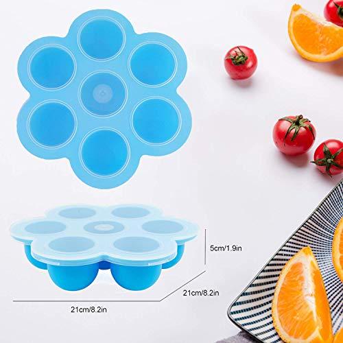 2 Pack Blue Silicone Egg Bites Instant Pot – Fits Instapot 8 Pressure Freezer Egg Poacher