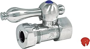 Kingston Brass CC44151 Vintage Classic 1/2 Compression x 1/2 Slip Joint Straight Stop with Lever Handle, 2-3/4