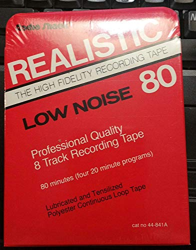 Realistic Blank Recordable 80 Minutes Low Noise 8 Track Tape