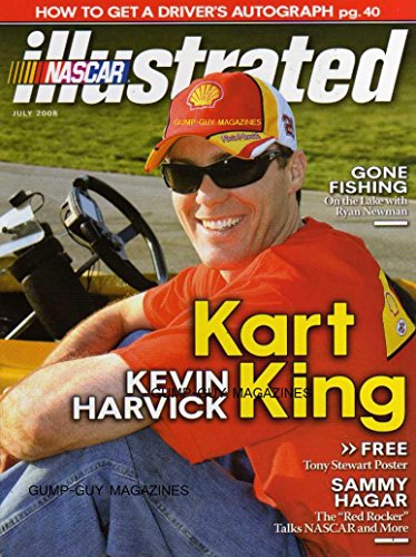 NASCAR Illustrated Magazine July 2008 KART KING KEVIN HARVICK On The Lake With Ryan Newman HOW TO GET A DRIVER'S AUTOGRAPH Tony Stewart Poster SAMMY HAGAR THE RED RROCKER TALKS