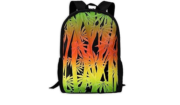 20c1a927a37f Amazon.com: CRSJBB219 Rasta Stalks and Fan Leaves Canvas Bookbags ...